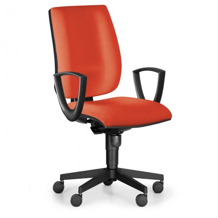 Kancelářská židle FIGO s područkami, synchronní mechanika, červená