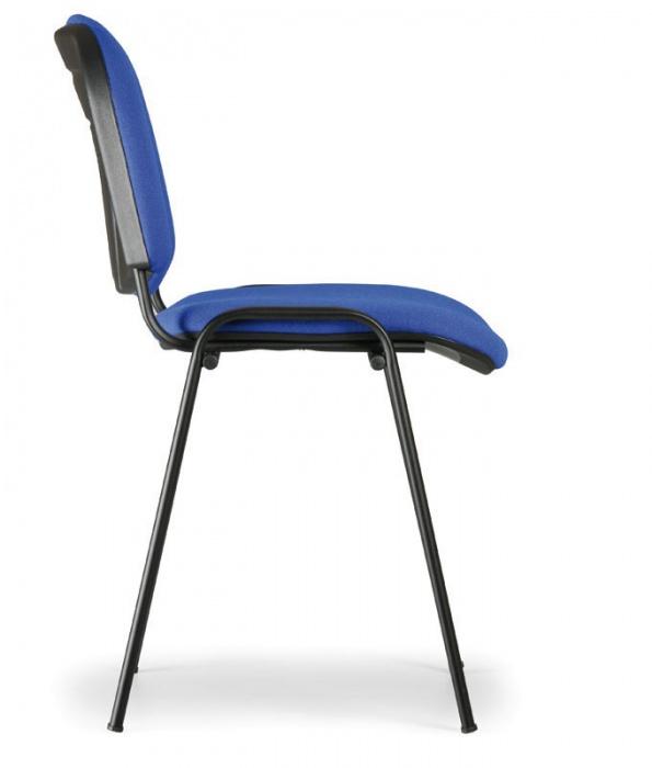 Konferenční židle VIVA - černé nohy, modrá