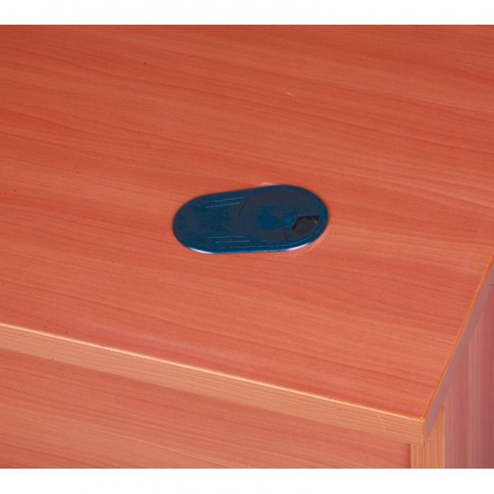 Psací stůl rovný, délka 1600 mm, třešeň